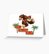 Team Donkey Kong Greeting Card