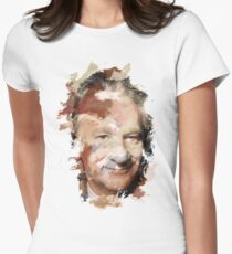 Paint-Stroked Portrait of TV Host and Activist, Bill Maher Womens Fitted T-Shirt