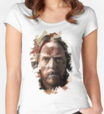 Paint-Stroked Portrait of Musician and Comedian, Tim Minchin Women's Fitted Scoop T-Shirt