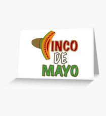 Cinco De Mayo Sombrero Greeting Card