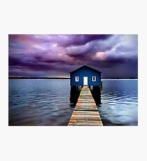 Blue Boathouse 2 Photographic Print