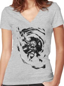 yorha Women's Fitted V-Neck T-Shirt