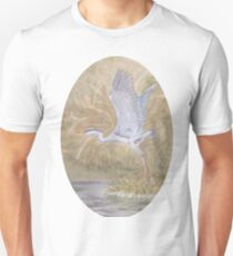 Blue Heron in Wetlands Unisex T-Shirt