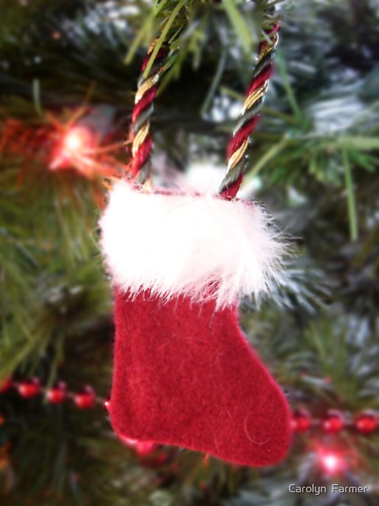 Merry Christmas Stocking by Carolyn  Farmer