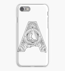 Handrawn Illustrated Letter A iPhone Case/Skin