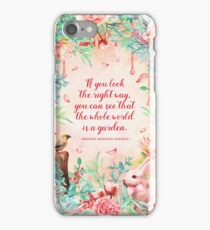 The whole world is a garden iPhone Case/Skin