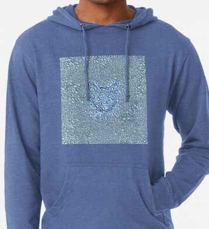 Maritime droplets cat Lightweight Hoodie