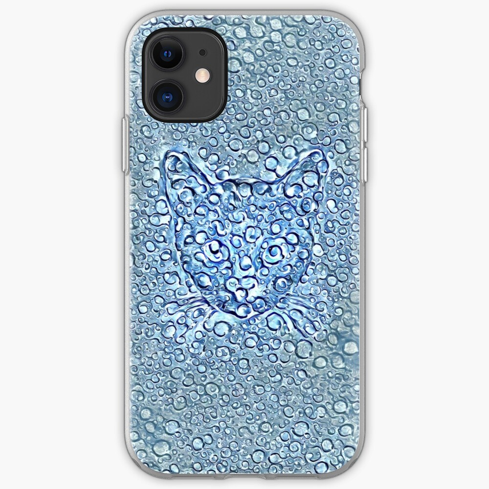 Maritime droplets cat iPhone Case & Cover