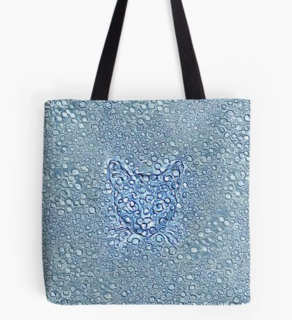 Maritime droplets cat Tote Bag