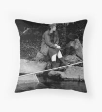 The Best Thing About A Hobby....................... It Gives You Something To Do While You Worry! Throw Pillow