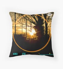 A Kitchen Sunset View Through The Lens Throw Pillow