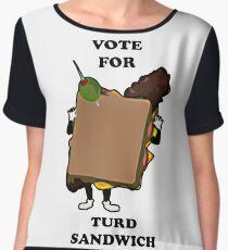 turd sandwich Chiffon Top