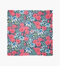 Red poppies and daisy meadow Scarf