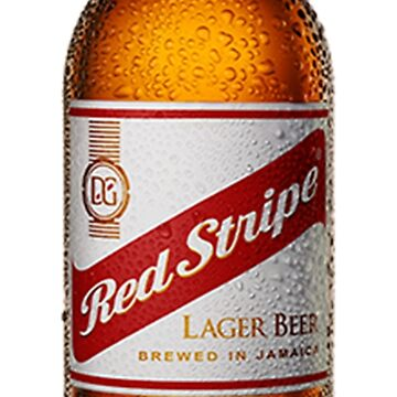 Red Stripe Cold Lager Beer Bottle by mimarumble