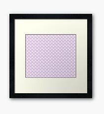 bunny pattern Framed Print