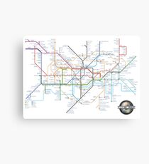 London Underground Tube Map and Film Genres Canvas Print