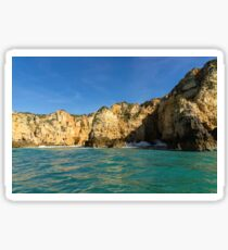 Jewel Toned Ocean Art - a Little Rough but oh so Beautiful Sticker
