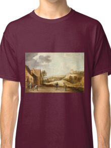 David Teniers The Younger - Landscape With Peasants Playing Bowls Outside An Inn Classic T-Shirt