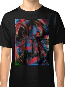 Abstraction and figurative on black and red Classic T-Shirt