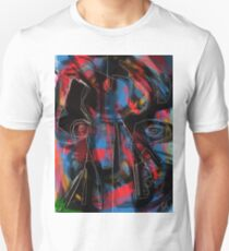 Abstraction and figurative on black and red Unisex T-Shirt