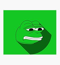 Pepe Material Green Fanart Photographic Print