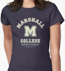 Indiana Jones - Marshall College Archaeology Department Distressed Womens Fitted T-Shirt