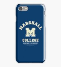 Indiana Jones - Marshall College Archaeology Department Distressed iPhone Case/Skin