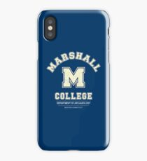 Indiana Jones - Marshall College Archaeology Department Distressed iPhone Case