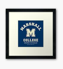 Indiana Jones - Marshall College Archaeology Department Distressed Framed Print