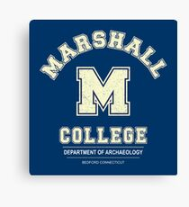 Indiana Jones - Marshall College Archaeology Department Distressed Canvas Print