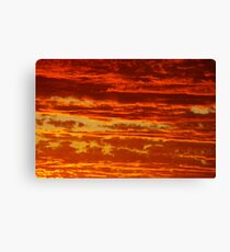 Clouds of a Sunset Canvas Print