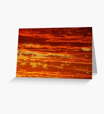 Clouds of a Sunset Greeting Card