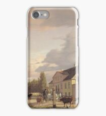 Christen Kobke - View Of A Street In osterbro Outside Copenhagen. Morning Light 1836 iPhone Case/Skin