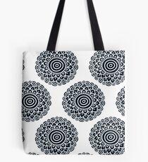 Boho black flower pattern. Seamless background.  Tote Bag