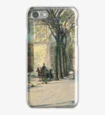 Childe Hassam - Washington Arch, Spring (1893) iPhone Case/Skin