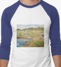 Childe Hassam - The Concord Meadow, Concord, Massachusetts Men's Baseball ¾ T-Shirt