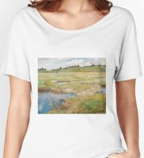 Childe Hassam - The Concord Meadow, Concord, Massachusetts Women's Relaxed Fit T-Shirt