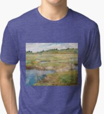 Childe Hassam - The Concord Meadow, Concord, Massachusetts Tri-blend T-Shirt
