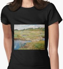 Childe Hassam - The Concord Meadow, Concord, Massachusetts Womens Fitted T-Shirt