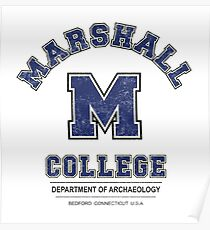 Indiana Jones - Marshall College Archaeology Department Distressed Variant  Poster