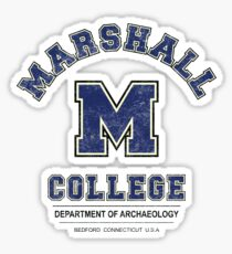 Indiana Jones - Marshall College Archaeology Department Distressed Variant  Sticker