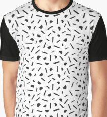 Simple memphis style black pattern. Seamless abstract background. Graphic T-Shirt