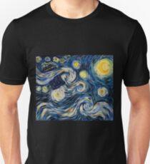 Starry Starry Tardis Unisex T-Shirt