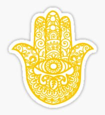 Hand of Fatima   Yellow Hamsa   Globetrotter Sticker