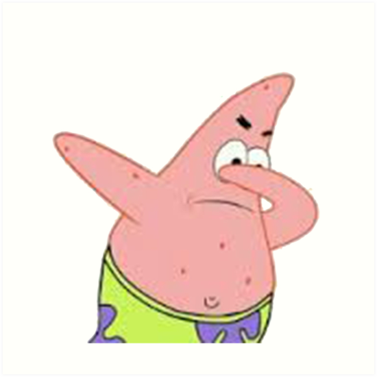 patrick star dabbing art prints by lukewoodsdesign redbubble