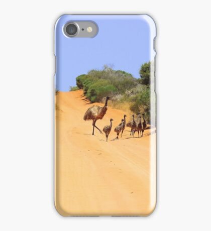 Emus on the track iPhone Case/Skin