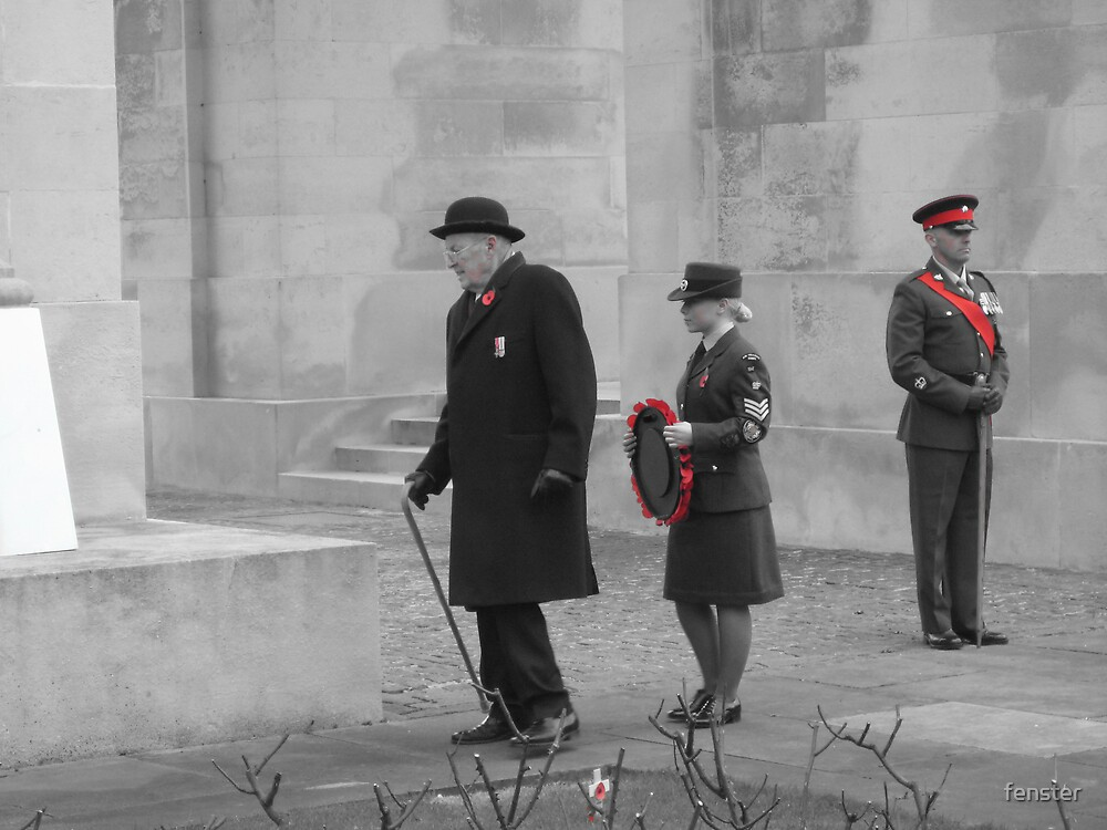 Remembrance Day, Leicester by fenster
