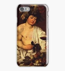 Caravaggio - The Adolescent Bacchus 1595 - 1597 iPhone Case/Skin