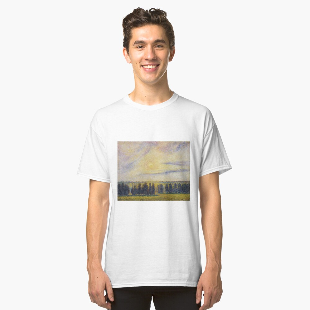 Camille Pissarro - Sunset At Eragny, 1890 Classic T-Shirt Front
