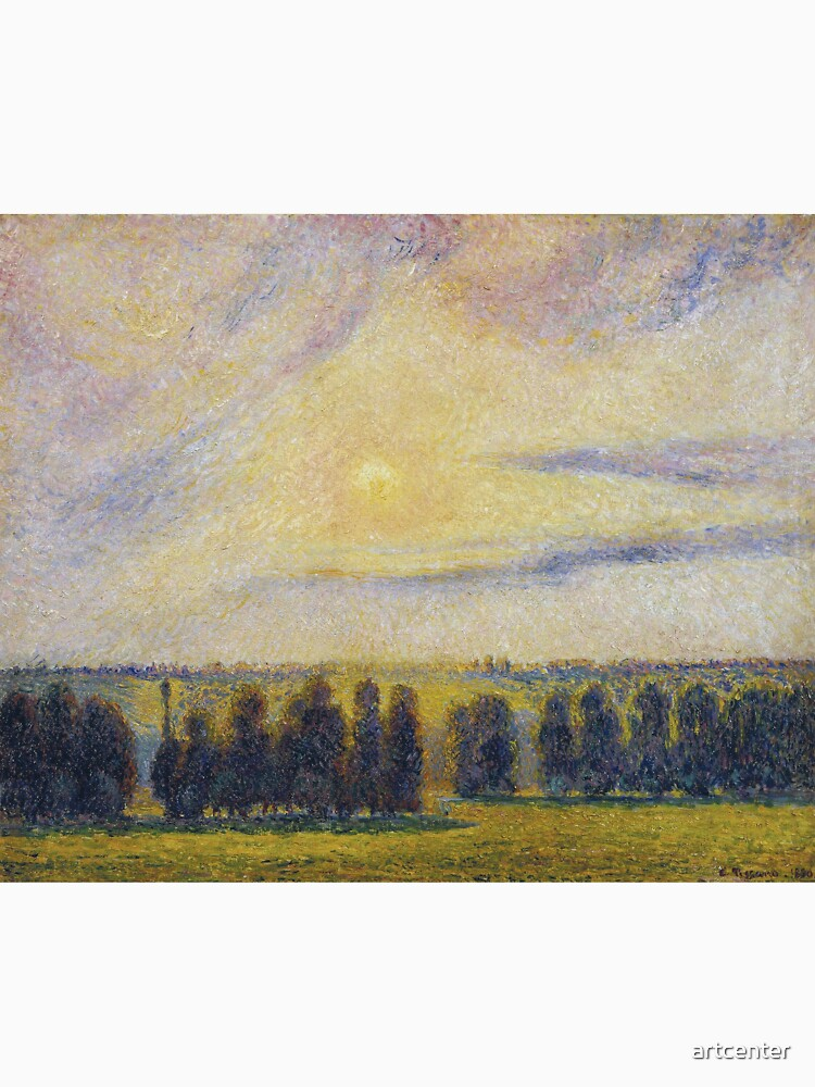 Camille Pissarro - Sunset At Eragny, 1890 by artcenter